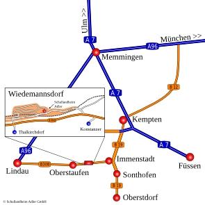 Anfahrt Schullandheim Adler